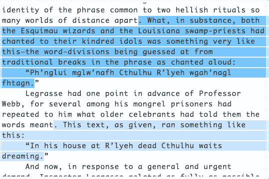 Using Regular Expressions to Find Cthulhu 🐙