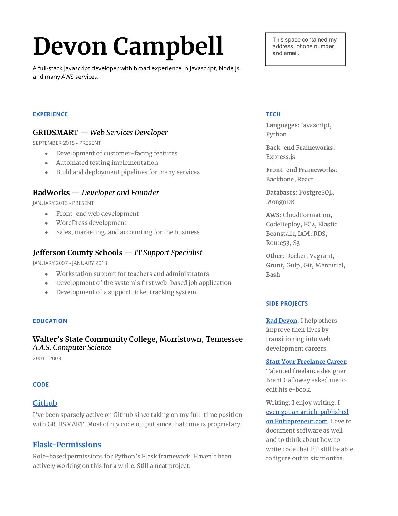 How To Build Your Web Developer Resume Even With No Experience